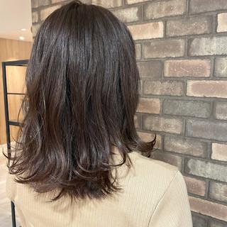 N.オイル イルミナカラー ミディアム 艶髪 ヘアスタイルや髪型の写真・画像