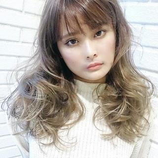 パーマ ロング 簡単 アンニュイ ヘアスタイルや髪型の写真・画像
