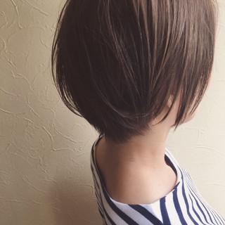 オフィス デート ナチュラル ボブ ヘアスタイルや髪型の写真・画像