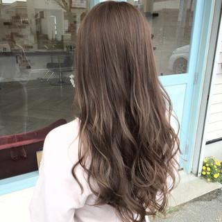グラデーションカラー ロング セクシー エレガント ヘアスタイルや髪型の写真・画像
