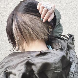 外国人風カラー ストリート ショートボブ ボブ ヘアスタイルや髪型の写真・画像