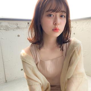 デジタルパーマ 外人風パーマ 毛先パーマ ミディアム ヘアスタイルや髪型の写真・画像