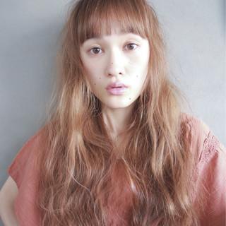 ロング 外国人風 パーマ ラフ ヘアスタイルや髪型の写真・画像