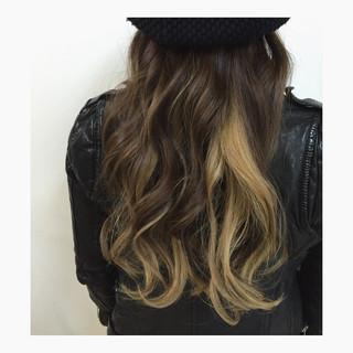 ストリート グラデーションカラー ハイライト 外国人風 ヘアスタイルや髪型の写真・画像