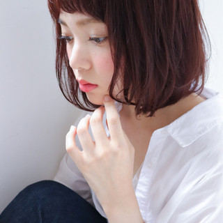 ニュアンス 小顔 透明感 前髪あり ヘアスタイルや髪型の写真・画像