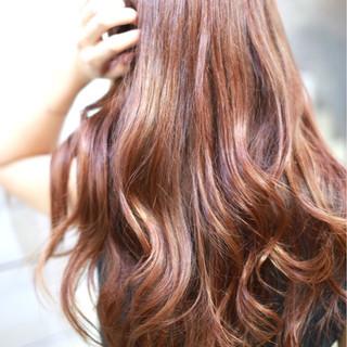 グラデーションカラー 大人女子 ストリート ロング ヘアスタイルや髪型の写真・画像