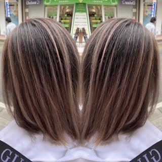 モード 外国人風カラー ミディアム アディクシーカラー ヘアスタイルや髪型の写真・画像