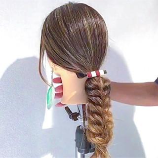 ヘアアレンジ デート 簡単ヘアアレンジ ナチュラル ヘアスタイルや髪型の写真・画像