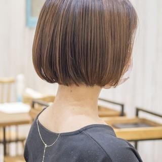 ナチュラル ショートヘア ミニボブ ボブ ヘアスタイルや髪型の写真・画像