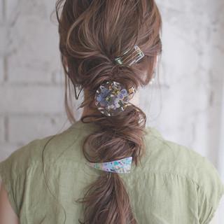 結婚式 簡単ヘアアレンジ パーティ ショート ヘアスタイルや髪型の写真・画像