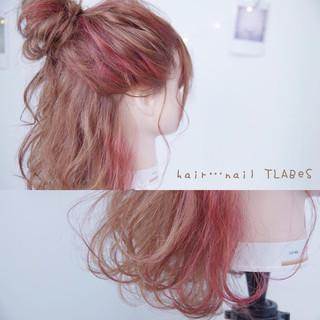 簡単ヘアアレンジ ショート ガーリー ボブ ヘアスタイルや髪型の写真・画像