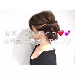 上品 デート ヘアアレンジ エレガント ヘアスタイルや髪型の写真・画像