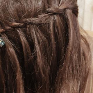 結婚式 デート ミディアム 簡単ヘアアレンジ ヘアスタイルや髪型の写真・画像