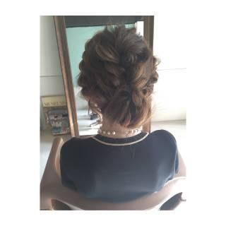結婚式 二次会 ルーズ コンサバ ヘアスタイルや髪型の写真・画像