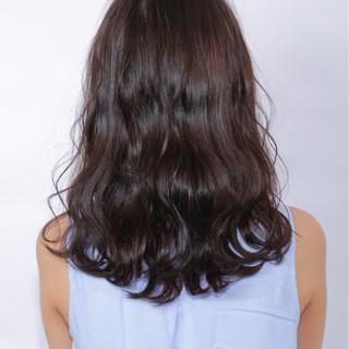 デジタルパーマ リラックス セミロング カール ヘアスタイルや髪型の写真・画像