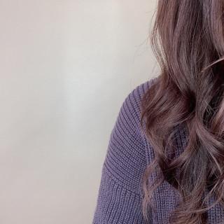 ラベンダーカラー ラベンダー ミディアム ラベンダーグレージュ ヘアスタイルや髪型の写真・画像