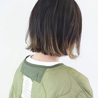 ボブ ストリート グラデーションカラー インナーカラー ヘアスタイルや髪型の写真・画像