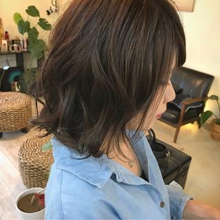 女子会 ボブ 大人かわいい ウェットヘア ヘアスタイルや髪型の写真・画像