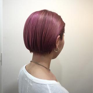 ヘアアレンジ ショート ミディアム ピンク ヘアスタイルや髪型の写真・画像