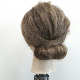 セミロング 外国人風 大人かわいい 着物 ヘアスタイルや髪型の写真・画像