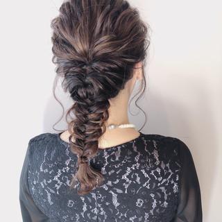 成人式 ロング ヘアアレンジ デート ヘアスタイルや髪型の写真・画像