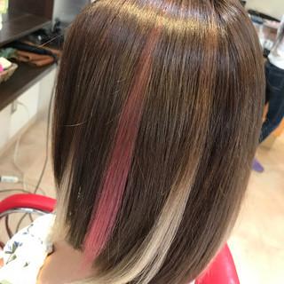 セミロング ヘアアレンジ 夏 ストリート ヘアスタイルや髪型の写真・画像