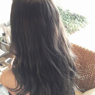 アッシュ 外国人風 ロング グレージュ ヘアスタイルや髪型の写真・画像
