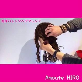 ショート エレガント バレッタ セミロング ヘアスタイルや髪型の写真・画像