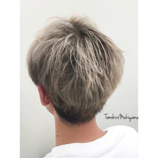ホワイトアッシュ ショート ストリート ホワイト ヘアスタイルや髪型の写真・画像