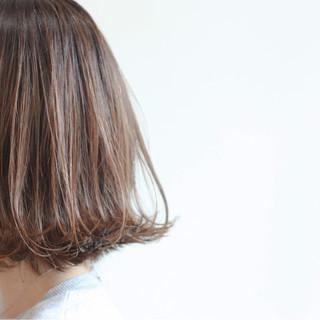 ストリート ハイライト 外ハネ 色気 ヘアスタイルや髪型の写真・画像