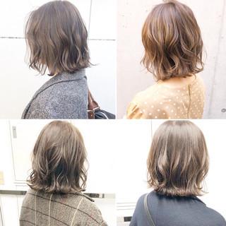 オフィス アンニュイほつれヘア ボブ 切りっぱなし ヘアスタイルや髪型の写真・画像