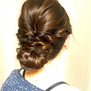 まとめ髪 ヘアアレンジ 編み込み 簡単 ヘアスタイルや髪型の写真・画像