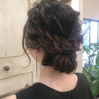 ヘアアレンジ エレガント 結婚式 ロング ヘアスタイルや髪型の写真・画像