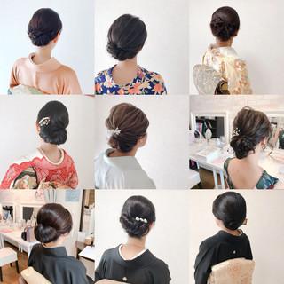 結婚式 和装 上品 着物 ヘアスタイルや髪型の写真・画像