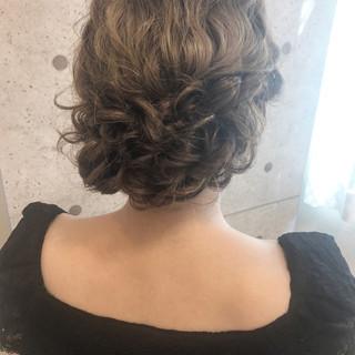 ミディアム 編み込み 結婚式 大人女子 ヘアスタイルや髪型の写真・画像