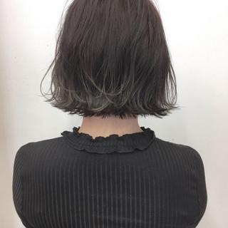 切りっぱなし ナチュラル 春 外ハネ ヘアスタイルや髪型の写真・画像