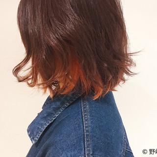 インナーカラー ストリート ハイトーン 外国人風 ヘアスタイルや髪型の写真・画像