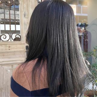 ナチュラル 透明感 アッシュ 暗髪 ヘアスタイルや髪型の写真・画像