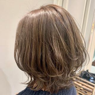 ナチュラル モテボブ ミディアム ひし形シルエット ヘアスタイルや髪型の写真・画像