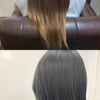 オリーブカラー オリーブグレージュ グレージュ ショート ヘアスタイルや髪型の写真・画像