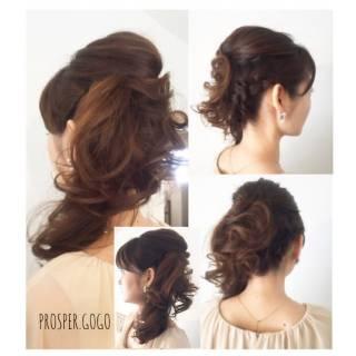 二次会 結婚式 簡単ヘアアレンジ ヘアアレンジ ヘアスタイルや髪型の写真・画像