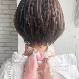 ショートカット ショート ショートボブ デジタルパーマ ヘアスタイルや髪型の写真・画像