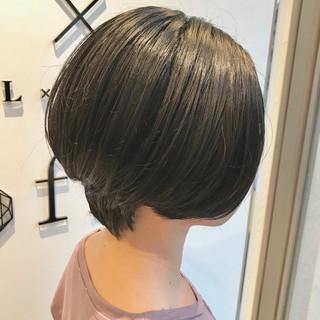 ショート 上品 ボブ エレガント ヘアスタイルや髪型の写真・画像