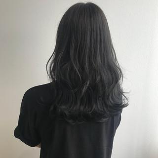 セミロング 透明感 アッシュグレー 女子力 ヘアスタイルや髪型の写真・画像