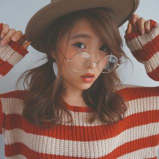 ミディアム モテ髪 ヘアアレンジ 外国人風 ヘアスタイルや髪型の写真・画像
