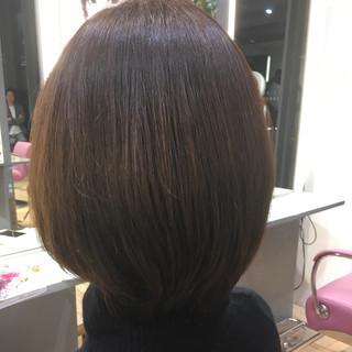 透明感カラー ミニボブ アッシュベージュ ショートボブ ヘアスタイルや髪型の写真・画像