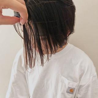 ショートヘア ショートボブ ブラウン ナチュラル ヘアスタイルや髪型の写真・画像