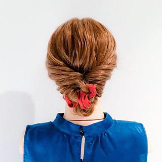結婚式 ロング フェミニン 簡単ヘアアレンジ ヘアスタイルや髪型の写真・画像