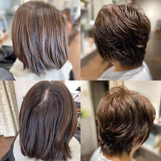 ショート ショートボブ インナーカラー ショートヘア ヘアスタイルや髪型の写真・画像