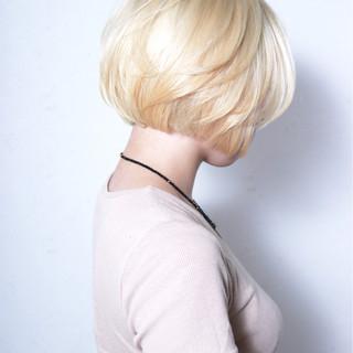 艶髪 モード 透明感 ショートボブ ヘアスタイルや髪型の写真・画像